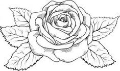 Trendy Flowers Drawing Rose Coloring Pages Simbolos Tattoo, Tribal Band Tattoo, Shape Tattoo, Tattoo Drawings, Art Drawings, Knot Tattoo, Chest Tattoo, Rose Drawings, Drawing Flowers