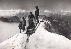 An ascent of Mont Blanc in September 1911 Photograph: S G Wheril