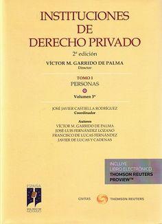 Instituciones de derecho privado. T. I, Personas. Vol. 3º / Victor Manuel Garrido de Palma, director ; José Javier Castiella Rodríguez, coordinador ; autores, Victor M. Garrido de Palma ... [et al.] - 2ª ed. - 2015
