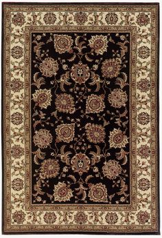Features:  -Product Type: Area Rug.  -Brighton collection.  Primary Color: -Black.  Product Type: -Area Rug.  Material: -Synthetic.  Material Details: -Polypropylene.  Product Care: -Vacuum regularly.