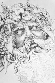 'Bacchus' - Composition Sketch V2 on Behance
