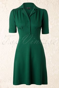 King Louie - 40s Milano Diner Dress in Green