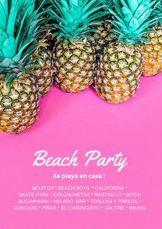 Invitación de fiesta playera/casera para veranos lluviosos del norte ;)