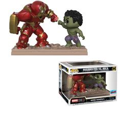 Funko Marvel Studios: The First Ten Years - Hulkbuster vs Hulk Movie Moments Vinyl Figure ** More info could be found at the image url. (This is an affiliate link) Funko Pop Toys, Funko Pop Figures, Pop Vinyl Figures, Funko Pop Vinyl, Funko Pop Marvel, Hulk Marvel, Hulk 1, Marvel Avengers, Stranger Things
