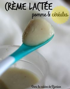 Crème lactée pomme et céréales