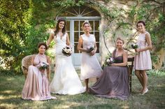 Gorgeous bridesmaids - different colours and styles