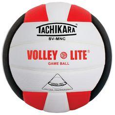Tachikara Svmnc Volley-Lite Training Volleyball, Red