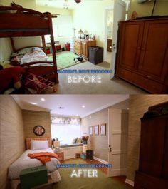 #Dreambuilders designer Darren's re-designed #bedroom. #TeamBlue #design #renovation #homeimprovement #boysroom