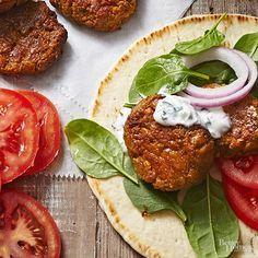 Slow Cooker Falafel Falafels, Slow Cooker Recipes, Crockpot Recipes, Lunch Recipes, Vegetarian Recipes, Chickpea Recipes, Pork Wraps, Falafel Recipe, Food Processor Recipes