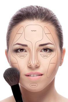 Contouringmake Woman Face Contour Highlight Makeup Stock Photo (Edit Now) 425147629 Makeup Inspo, Makeup Art, Makeup Inspiration, Makeup Tips, Beauty Makeup, Eye Makeup, Light Contouring, Face Contouring, Contouring And Highlighting