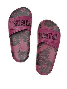 Victoria's Secret Pink Iridescent SINGLE STRAP SNAP SLIDE size 9//10 Large New