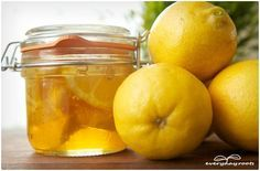 You will need…    -1 cup of honey  -1 tablespoon grated lemon peel  -2 fresh slices of lemon, juice and tossed in (optional)