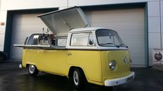 Volkwagen coffee Van.   Another Classic Van Conversion from the crew at Dog eat Dog Inc. When this Volkswagon Type van came to us, it was looking for a lot of TLC and we hope you agree it receved lots.. with the classic two tone paint job and stripe all around and of course that custom coffee, cocktail bar conversion in the back I think you will agree, what an head turner....