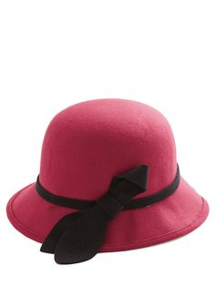 Color Your Coif Hat. Top your look with a pop of pigment when you don this crimson had! #pink #modcloth