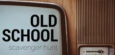 Get our Old School Scavenger Hunt! School Scavenger Hunt, Scavenger Hunts, Pumpkin Games, Youth Group Games, Mini Pumpkins, Youth Ministry, Help Teaching, Teamwork, Games To Play