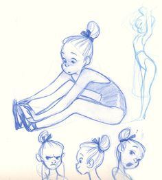 Q P: sketched things : ballerinas