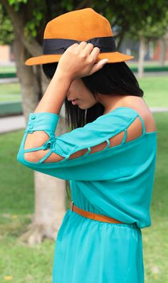 color. cutouts. #fashion #orange #teal get the look with fashion discounts at ASOS, Necessary clothing, F21 and more http://www.studentrate.com/fashion/fashion.aspx