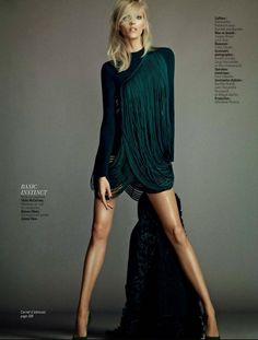 "Anja Rubik inspired by the movie ""Basic Instinct"" for L'express Styles by Nico #FCM #EdgyFashion"