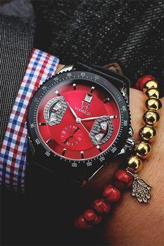 Monaco Red Watch Red Corral Charm Bracelet BUY HERE
