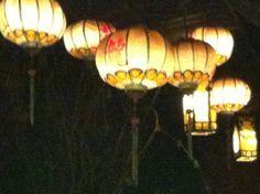 lanterns hoi an at night