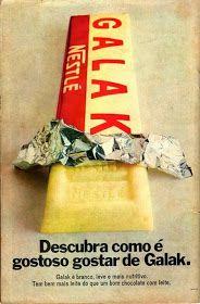"""É da sua Época? Quem se lembra da """"Propaganda Chocolate GALAK da Nestlé"""" em meados anos 70?"""