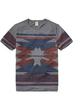 scotch & soda yarn dyed intarsia tee