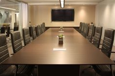 Gunlocke Avoca Seating surrounds an impressive Converge conference table at NeoCon 2015.