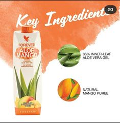 Forever Aloe, Mango Puree, Nutrition Drinks, Forever Living Products, Natural Energy, Aloe Vera Gel, Yummy Drinks, Pure Products, North America