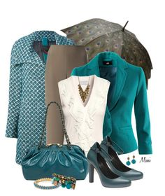 """""""Rainy Day Blues"""" by stylesbymimi ❤ liked on Polyvore featuring Armani Collezioni, H&M, Marc Jacobs, Lilly Pulitzer, Lottie Stone England, women's clothing, women, female, woman and misses"""