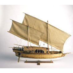 Australian National Maritime Collection - Ship model 19th century Makassan prahu padawakang