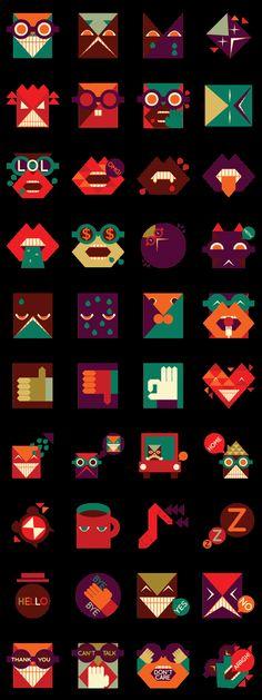 Geometrix Line stickers by beesahu   #lineapp #linestickers  https://store.line.me/stickershop/product/1117443/en