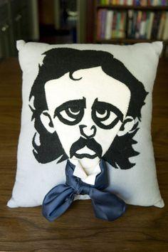 Handmade Edgar Allan Poe pillow!