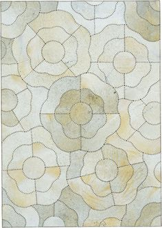 Cowhide Flower White by The Rug Company