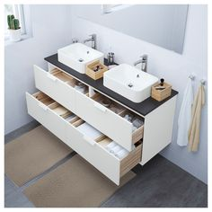 A solution to an ikea problem. IKEA hack for a Godmorgan vanity ...