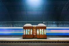 Night train station by Maxim Khytra on 500px