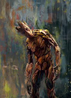 Marvel fandom art - Guardians of the Galaxy: Groot Marvel Comics, Ms Marvel, Marvel Heroes, Marvel Characters, Marvel Avengers, Groot Comics, Fictional Characters, Comic Books Art, Comic Art
