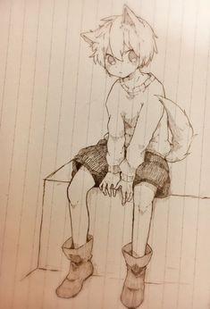 Dark Art Drawings, Anime Drawings Sketches, Anime Sketch, Kawaii Drawings, Cool Drawings, Anime Character Drawing, Manga Drawing, Character Art, Anime Chibi