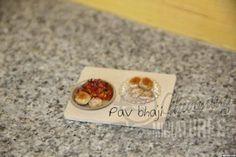 Miniature indian chaat - Pav bhaji. For more miniature food, visit - www.charmingminiatures.com