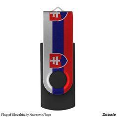 Shop Flag of Slovakia USB Flash Drive created by AwesomeFlags. Usb Flash Drive, Flag, Science, Flags, Usb Drive