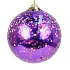 effect purple christmas ornaments 6 purple glitter snowflake christmas ...