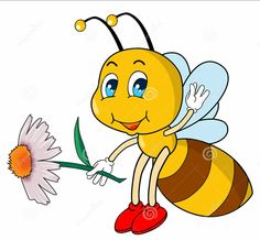 Illustration about little bee that holding a flower. Illustration of flight, game, perfume - 14007418 Smileys, Bumble Bee Clipart, Bee Rocks, Bee Pictures, Cartoon Bee, Emoji Love, Cute Bee, Bee Art, Borders For Paper