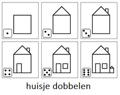 Dice game : numbers & parts of the house Kindergarten Learning, Kindergarten Crafts, Preschool Learning Activities, Preschool Math, Fun Learning, Sequencing Worksheets, Story Sequencing, Home Themes, Busy Boxes