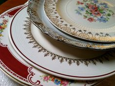 There's alot of gold on these vintage china plates! - Southern Vintage Table