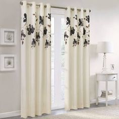 floral washable grommet curtains - Google Search