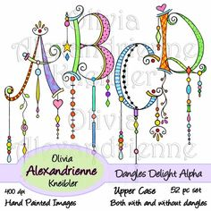 Dangles Delight Alphabet – Upper Case