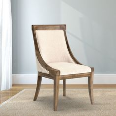 Contemporary Upholstered Dining Chair - Natural + Toffee.