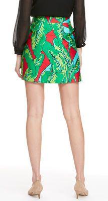Banana Leaf Print Skirt