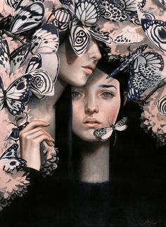 Surreal Illustrations of Young Women-1b