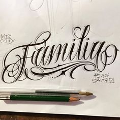 Excellent simple ideas for your inspiration Tattoo Lettering Styles, Cursive Tattoos, Chicano Lettering, Writing Tattoos, Tattoo Design Drawings, Tattoo Script, Tattoo Fonts, Lettering Design, Hand Tattoos