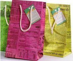 Bolsas de papel de diario